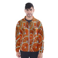 Oranges Background Men s Windbreaker