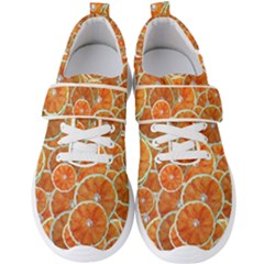 Oranges Background Men s Velcro Strap Shoes by HermanTelo