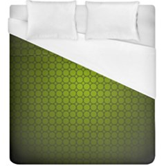 Hexagon Background Circle Duvet Cover (king Size)