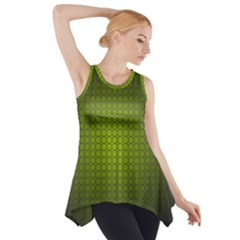 Hexagon Background Circle Side Drop Tank Tunic