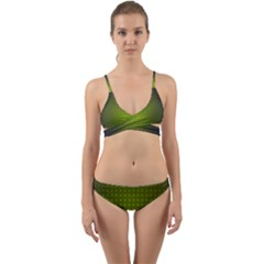 Hexagon Background Circle Wrap Around Bikini Set