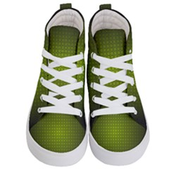 Hexagon Background Circle Kids  Hi Top Skate Sneakers