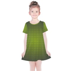 Hexagon Background Circle Kids  Simple Cotton Dress by HermanTelo