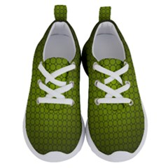 Hexagon Background Circle Running Shoes by HermanTelo