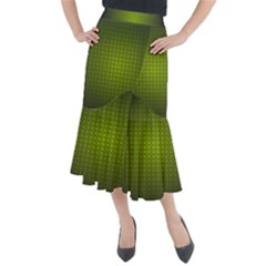 Hexagon Background Circle Midi Mermaid Skirt