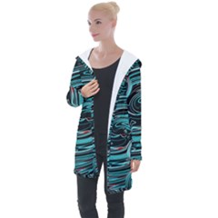 Background Neon Abstract Longline Hooded Cardigan