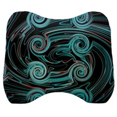 Background Neon Abstract Velour Head Support Cushion