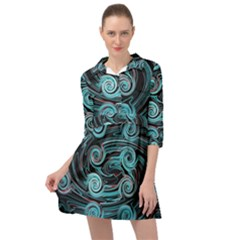 Background Neon Abstract Mini Skater Shirt Dress by HermanTelo