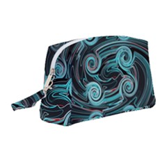 Background Neon Abstract Wristlet Pouch Bag (medium)