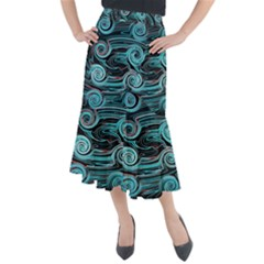 Background Neon Abstract Midi Mermaid Skirt by HermanTelo