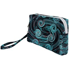Background Neon Abstract Wristlet Pouch Bag (small)