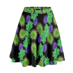 Flowers Pattern Background High Waist Skirt by HermanTelo