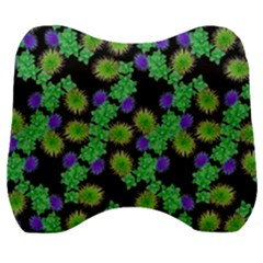 Flowers Pattern Background Velour Head Support Cushion