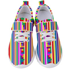 Rainbow Geometric Spectrum Women s Velcro Strap Shoes