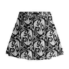 Fabric Pattern Mini Flare Skirt by AnjaniArt