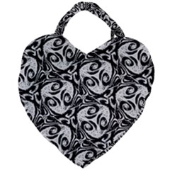 Fabric Pattern Giant Heart Shaped Tote