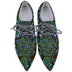 Zappwaits Flower Women s Pointed Oxford Shoes by zappwaits