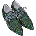 Zappwaits Flower Women s Pointed Oxford Shoes View3