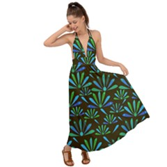 Zappwaits Flower Backless Maxi Beach Dress by zappwaits