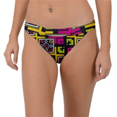 Squares Pattern                                 Band Bikini Bottom by LalyLauraFLM