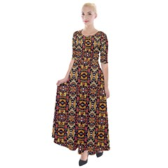 J 7 Half Sleeves Maxi Dress by ArtworkByPatrick