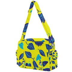 Leaves On A Yellow Background                               Buckle Multifunction Bag by LalyLauraFLM