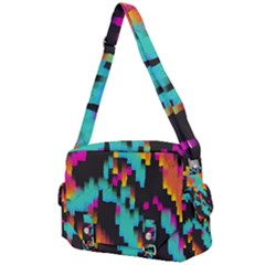 Rectangles In Retro Colors                               Buckle Multifunction Bag by LalyLauraFLM