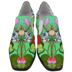 Plantagenet Bouquet Mint Women Slip On Heel Loafers by Tiffied