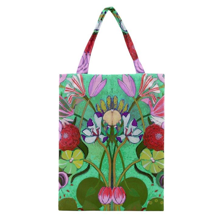 Plantagenet Bouquet Mint Classic Tote Bag