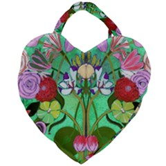 Plantagenet Bouquet Mint Giant Heart Shaped Tote