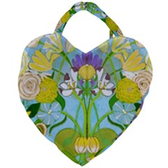 Plantagenet Bouquet White Giant Heart Shaped Tote by Tiffied