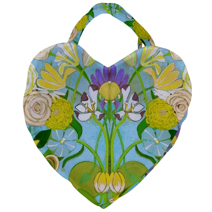 Plantagenet Bouquet White Giant Heart Shaped Tote