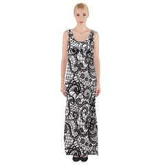 Encaje Thigh Split Maxi Dress