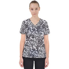 Encaje Women s V Neck Scrub Top by Sobalvarro