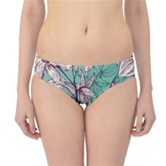 Vintage Floral Pattern Hipster Bikini Bottoms by Sobalvarro