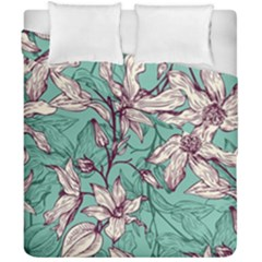 Vintage Floral Pattern Duvet Cover Double Side (california King Size) by Sobalvarro