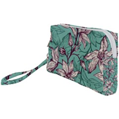 Vintage Floral Pattern Wristlet Pouch Bag (small) by Sobalvarro