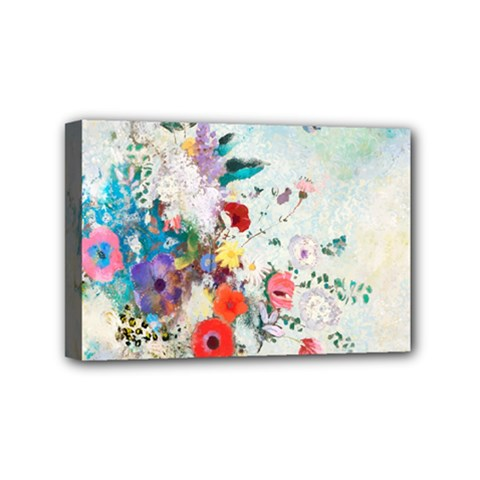 Floral Bouquet Mini Canvas 6  X 4  (stretched) by Sobalvarro