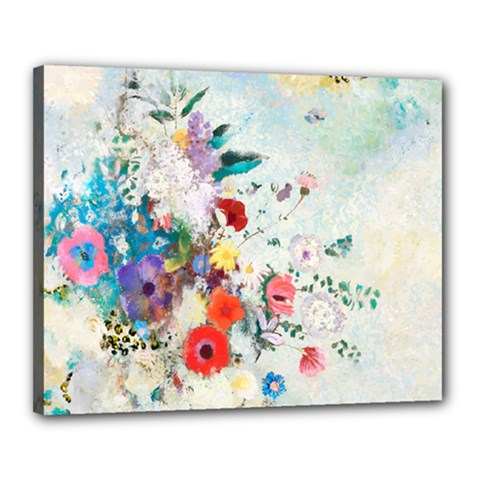 Floral Bouquet Canvas 20  X 16  (stretched) by Sobalvarro