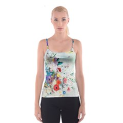 Floral Bouquet Spaghetti Strap Top by Sobalvarro