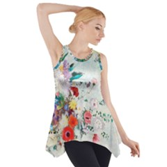 Floral Bouquet Side Drop Tank Tunic by Sobalvarro