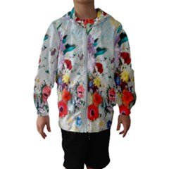 Floral Bouquet Kids  Hooded Windbreaker by Sobalvarro