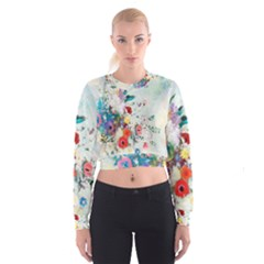 Floral Bouquet Cropped Sweatshirt by Sobalvarro