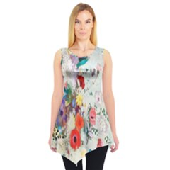 Floral Bouquet Sleeveless Tunic by Sobalvarro