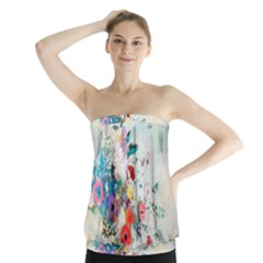 Floral Bouquet Strapless Top by Sobalvarro