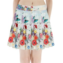 Floral Bouquet Pleated Mini Skirt by Sobalvarro