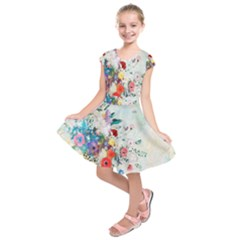 Floral Bouquet Kids  Short Sleeve Dress by Sobalvarro