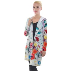Floral Bouquet Hooded Pocket Cardigan by Sobalvarro