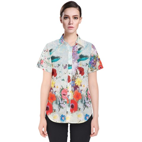 Floral Bouquet Women s Short Sleeve Shirt by Sobalvarro