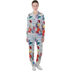 Floral Bouquet Casual Jacket And Pants Set by Sobalvarro